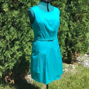 Mexx Turquoise Belted Sleeveless Cocktail Dress 12